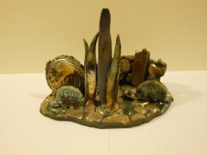 Raku Ceramic Sculpture