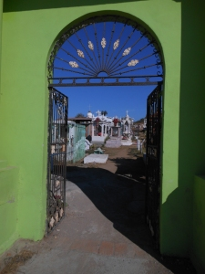 Mexican graveyard gate