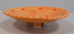 Orange semi transparent glaze