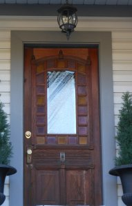 Image of house door, Greenwood British Columbia