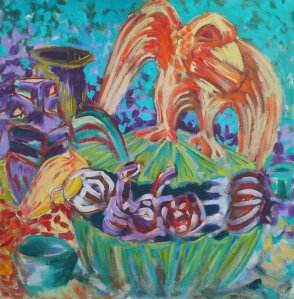 "Oil on canvas 24"" x 24"" 1985"