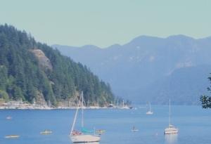 Photograph of Deep Cove looking towards Indian Arms.