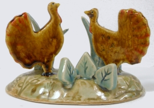 Hand made ceramic folk art turkeys fired to cone six.