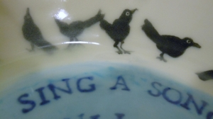 Clear and robins egg blue glaze.