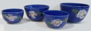 Set of four handmade nesting bowls.