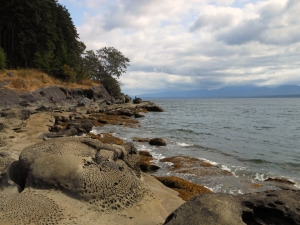 Beach rock formations, Ford Cove, Hornby Island, BC Canada.