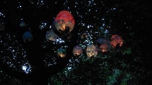 Murder of Crows Lanterns made at volunteer workshops