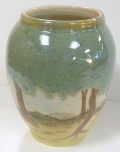 Moss green cone six glaze.