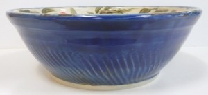 Floating blue over cobalt glaze