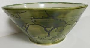 Jasper green glaze on Bmix clay body
